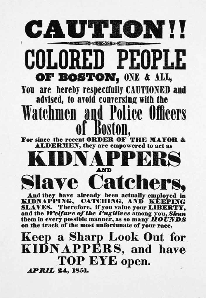 Broadside: Caution colored people of Boston...